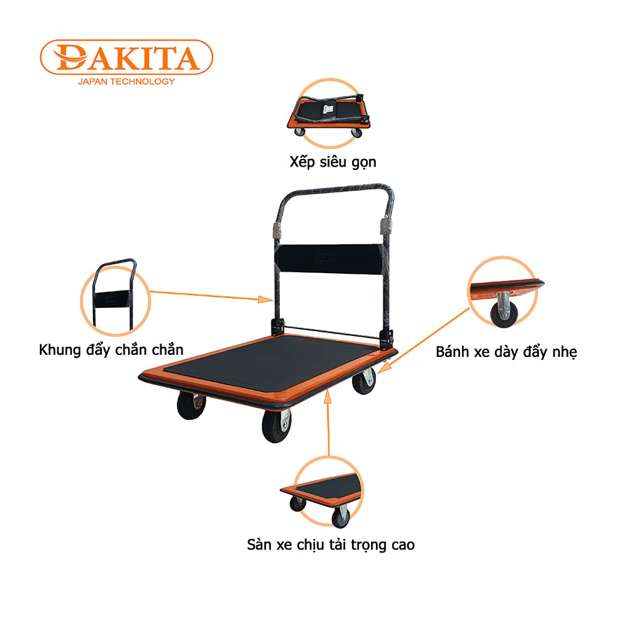 xe day hang 4 banh DKX4300 300kg